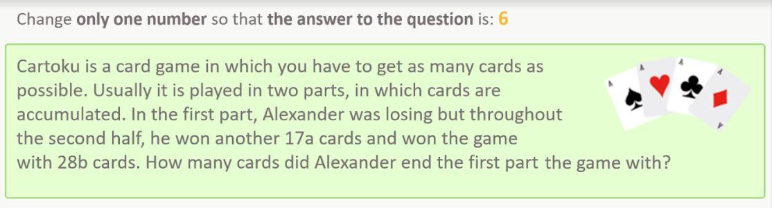 Third-grade word problems.