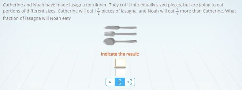 Example of a 3rd grade math word math problem in Smartick.