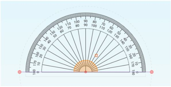 straight angle with protractor