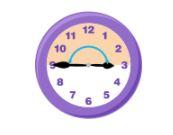 straight angle on clock