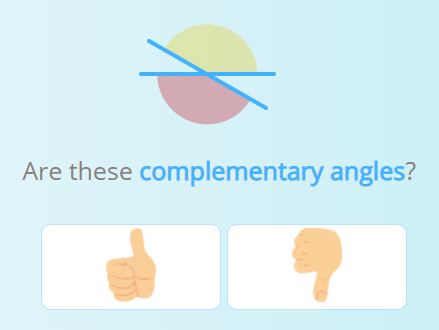 Activity about complementary angles.