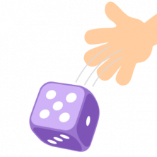 Probability when rolling dice.